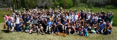 Participants gather for a group picture after our Spring 2018 work day.