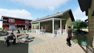 Architect's rendering of the some of the houses.