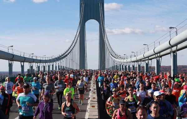 Runners in the New York Marathon.