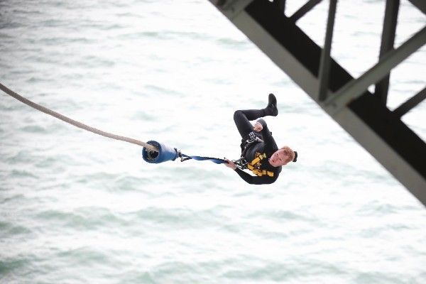 Bungy jump enthusiasist Mike Heard.