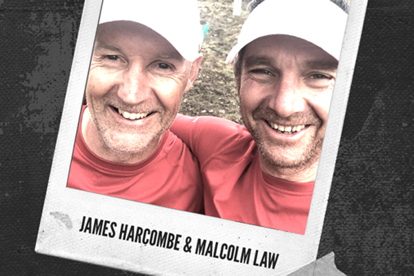 Polaroid of Mal Law and James Harcombe.