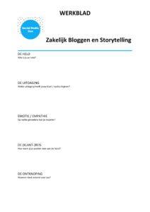 Een van de methodes: storytelling