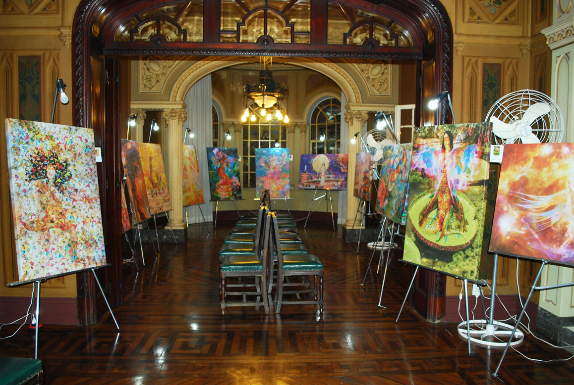 Linda imagem da Mansao Hasbaya com a Exposição Asas Na Arte