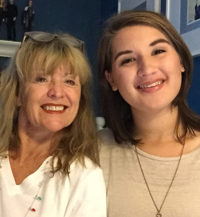 christine with granddaughter, Maddie