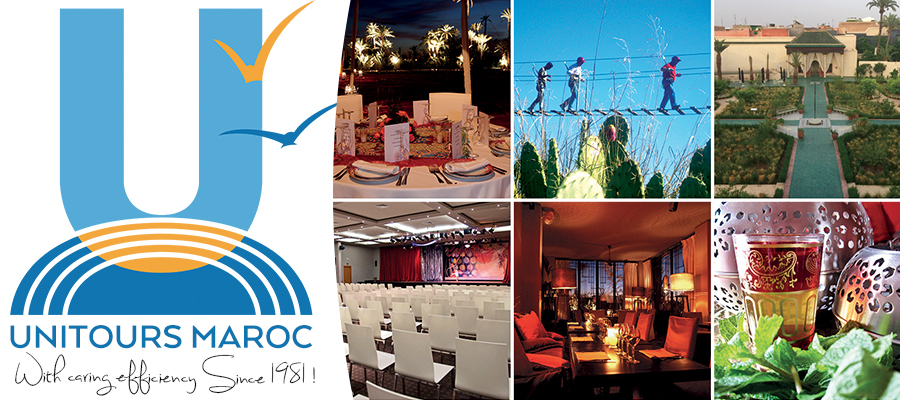 Unitours Maroc is a Destination and Event Management Company based in Marrakech, Morocco, and founded in 1981.