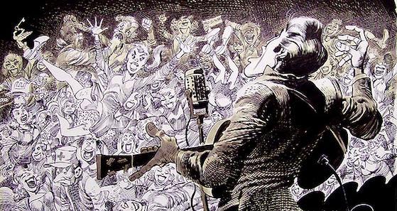 "Jack Davis, ""Elvis Presley"" (detail)"