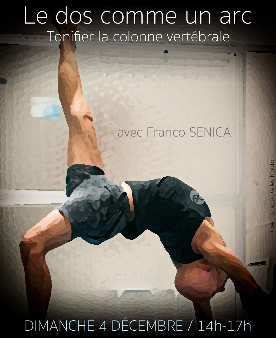 Franco Senica posture flexion arrière - workshop Trini Yoga Paris