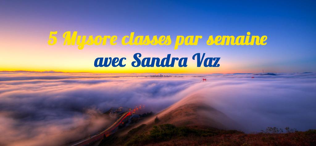 Les lumières du matin : Nouveau programme de Mysore classes à Paris avec Sandra Vaz
