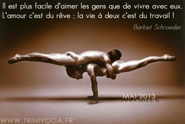 Cours Yoga Paris 10, TriniYoga, Ashtanga Vinyasa - newsletter avril 2013