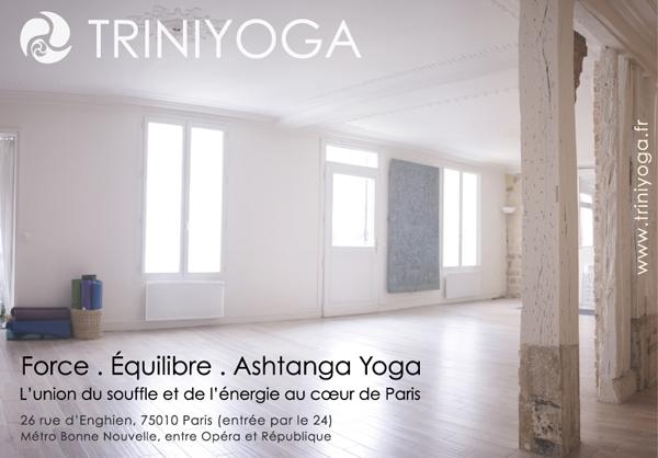 Yoga Paris 10, TriniYoga, Ashtanga Vinyasa - nouveau code porte 4B12