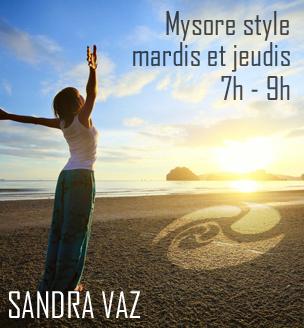 Classes de Mysore Yoga à Paris, cours du matin, Sandra Vaz