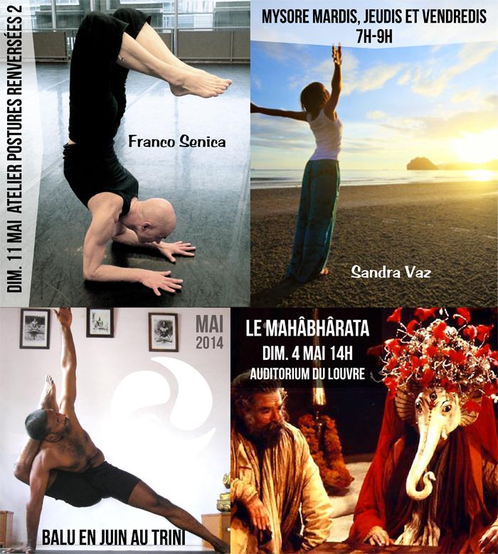 Yoga Paris 10, Ashtanga Vinyasa & Mysore - Programme de mai 2014