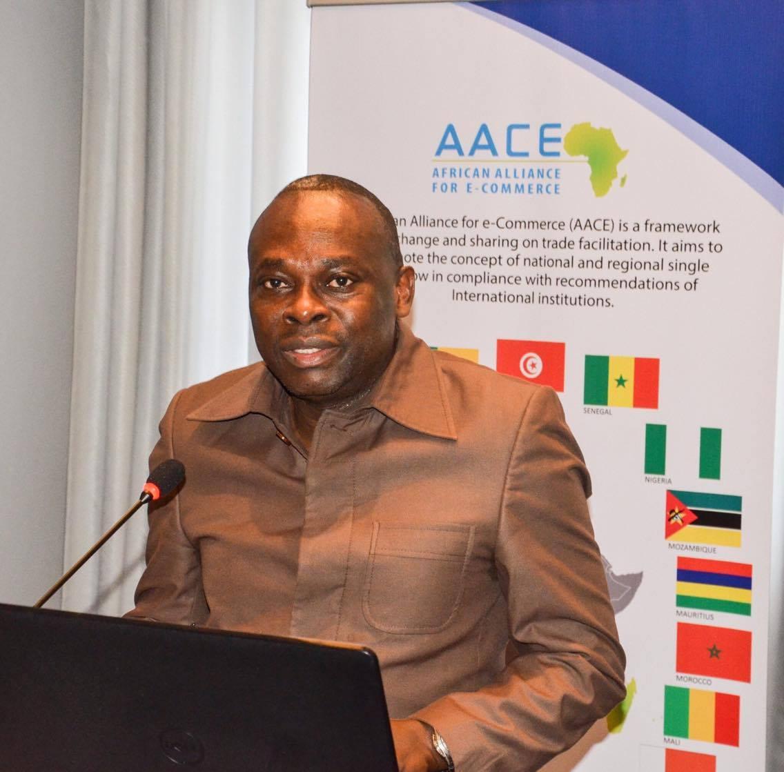 Eugène Rufin Bouya Directeur Général du GUOT et vice-président de l'alliance Africaine pour le Commerce électronique
