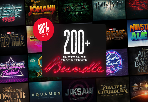 200+ Photoshop Text Effects