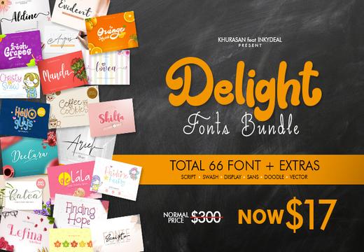 The Delight Fonts Bundle