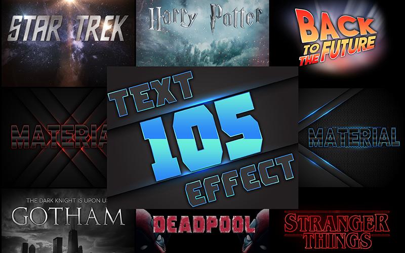 105 Text Effects Bundle