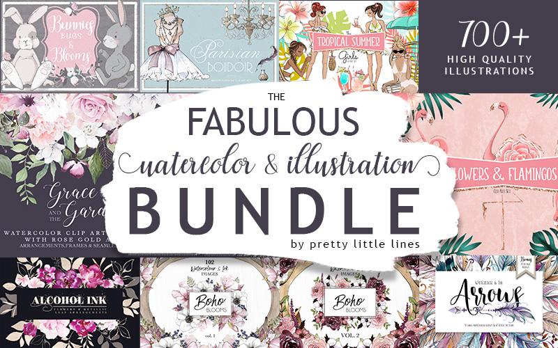Watercolor & Illustrations Bundle
