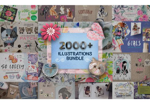 2000+ Illustrations Bundle