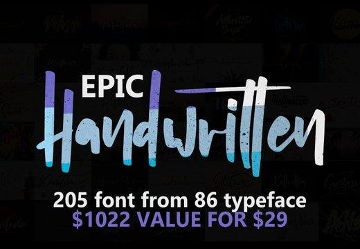 205 Handwritten Fonts