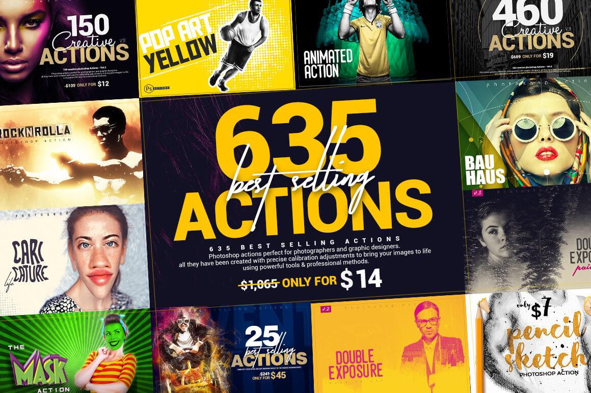635 Photoshop Actions