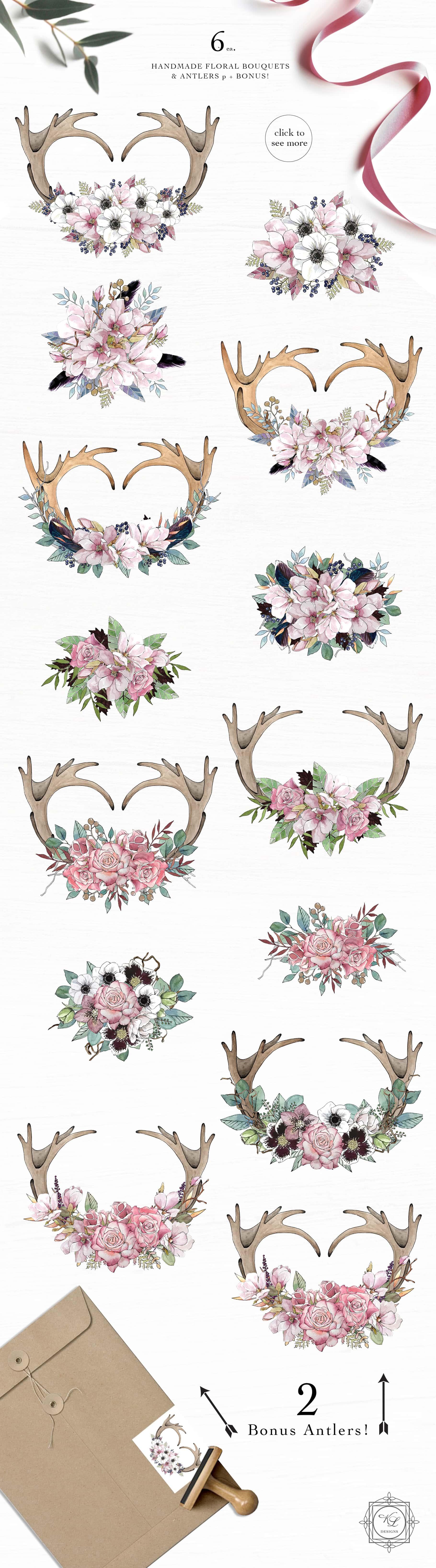 Watercolor & Illustrations Bundle 6