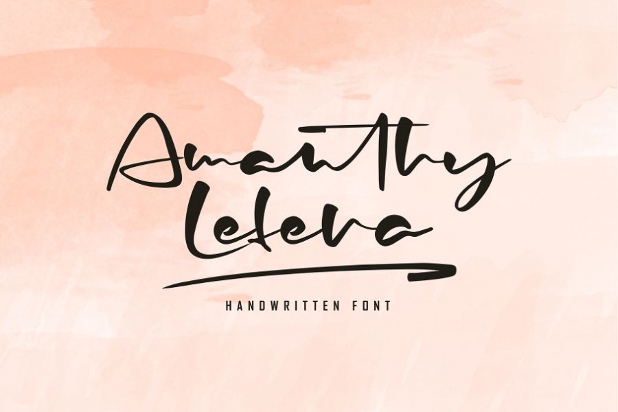 Handwritten Font Preview 3