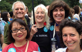 Judy Wicks and others at People's Climate March
