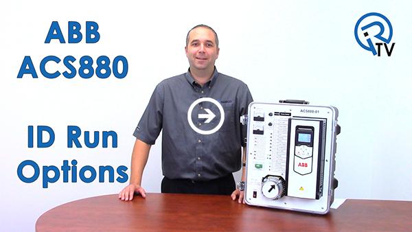 ABB ACS880 ID Run Options