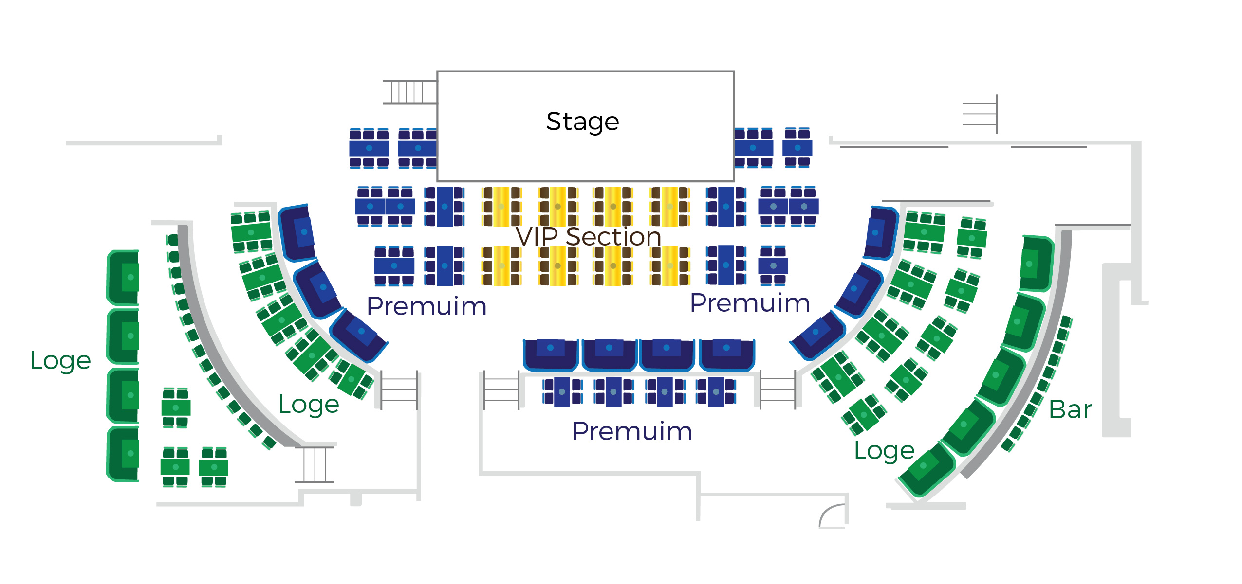 Maxi Priest Seating Chart