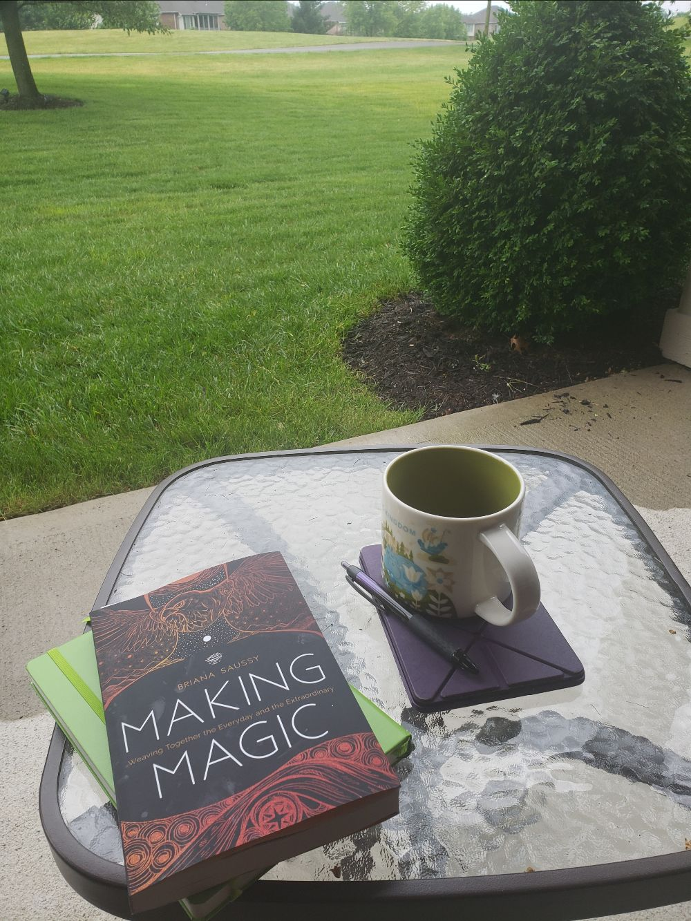Coffee on the patio