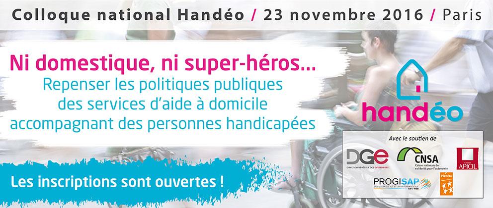 Colloque national Handéo le 23 novembre 2016 à Paris