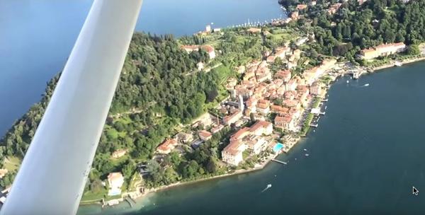 Bellagio aus der Vogelperspektive