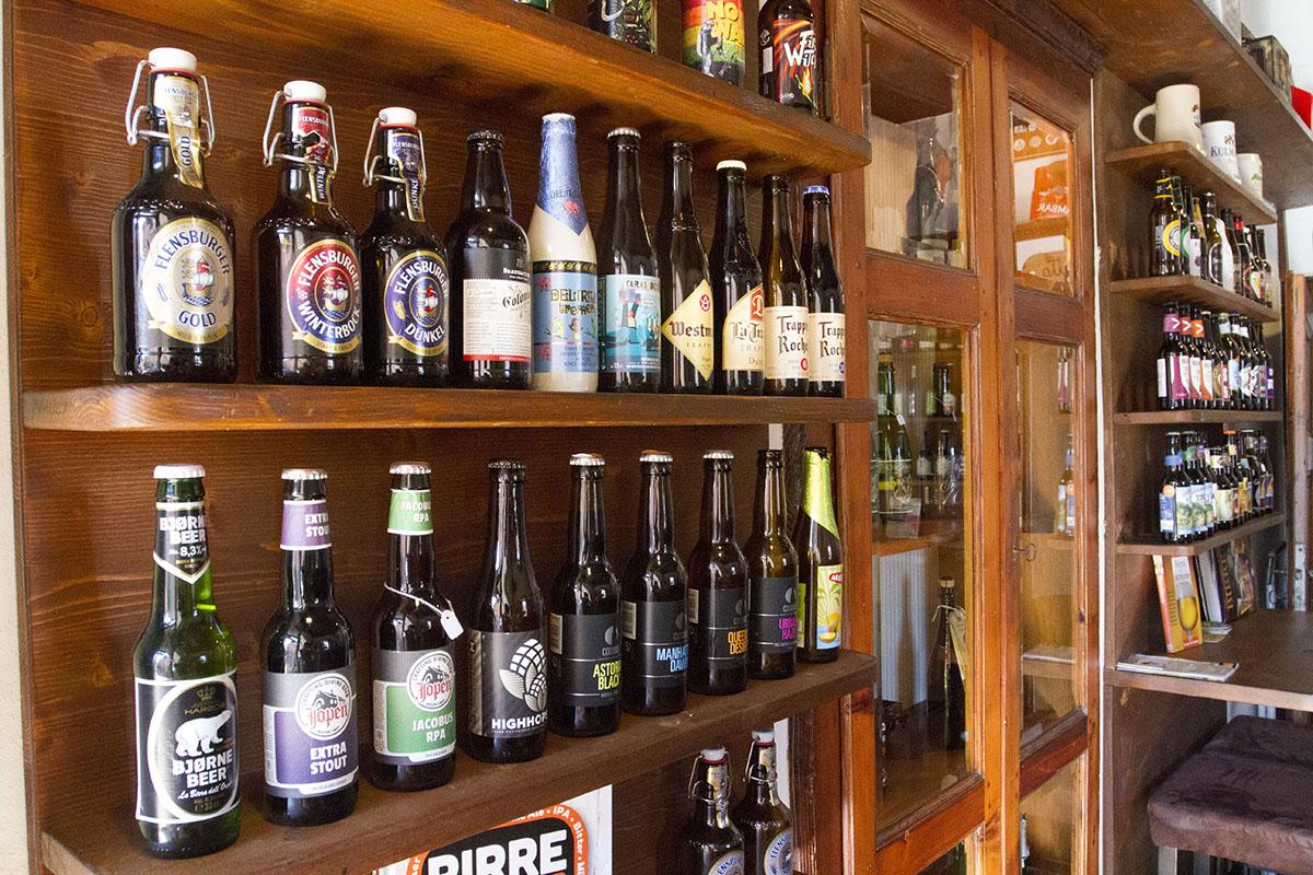 Die Auswahl an Flaschenbieren