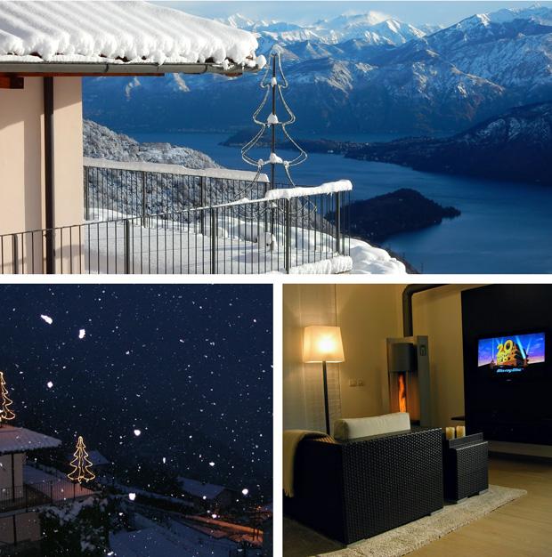 Collage 1 mit weihnachtlichen Impressionen aus dem Ferien-Loft am Comer See