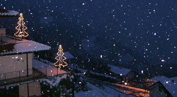 Im Winter wenn´s schneit - draussen.