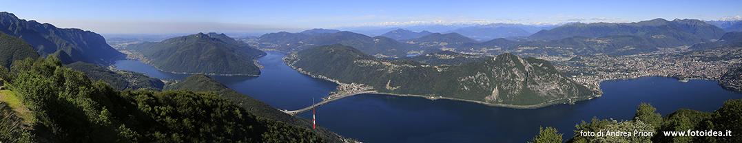 Der Lago di Lugano dahinter die Schweiz.