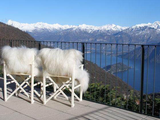 Aussicht von der Terrasse der Ferienwohnung
