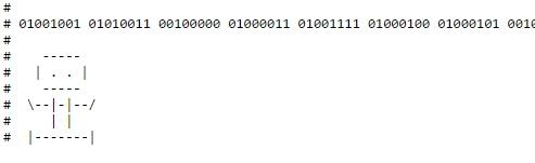 Если перевести бинарный код в текст, то получится фраза «код – ваше ремесло?»