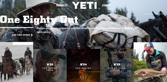 Статьи YETI привлекают внимание не только своими темами, но и оформлением