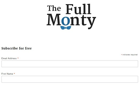Подписка на рассылку от The Full Monty