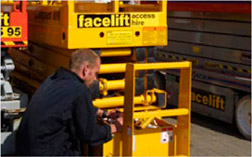 Servicing a scissor lift