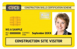 CSCS visitor card