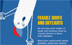 Free poster - Fragile roofs