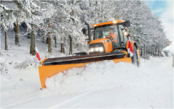 Snowplough in action