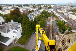 Cherry picker above Cheltenham