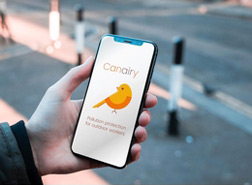 Air pollution app on phone