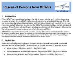 Rescue of persons from MEWPs guidance