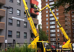Checking tower block cladding