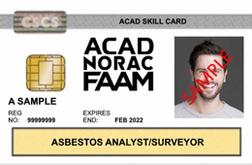 New asbestos skill card