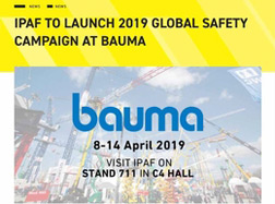 IPAF to launch 2019 global safety campaign at Bauma